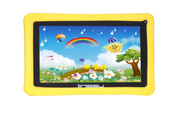 jcpenney.com | Linsay® 7'' Kids Quadcore 8Gb 1024X600 Hd Dual Cam Tablet Bundle with Kids Yellow Defender Case