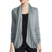 Worthington® Edition Long-Sleeve Drape Cardigan