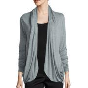 Worthington® Edition Long-Sleeve Drape Cardigan