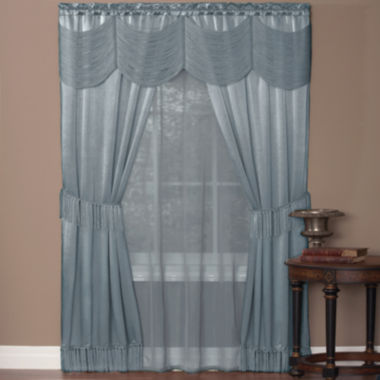 jcpenney.com | Halley 6-pc. Sheer Rod-Pocket Curtain Set