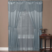Halley 6-pc. Sheer Rod-Pocket Curtain Set