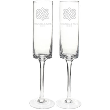 jcpenney.com | Cathy's Concepts Set of 2 Personalized Celtic Knot 8 oz. Contemporary Champagne Flutes
