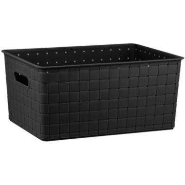 "jcpenney.com | Home Basics 18"" Woven Plastic Storage Basket"