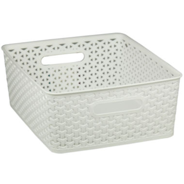 jcpenney.com | Home Basics Small Plastic Storage Basket