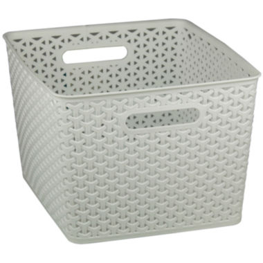 jcpenney.com | Home Basics Medium Plastic Storage Basket