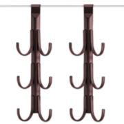 Lynk® 2-pc. Over-Door 6-Hook Accessory Organizer