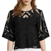 Worthington® 3/4-Sleeve Lace Top - Tall