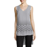 Worthington® Sleeveless High-Low Blouse