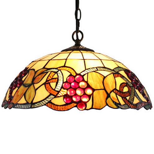 Amora Lighting AM1040HL16 Tiffany Style Colorful Hanging Lamp