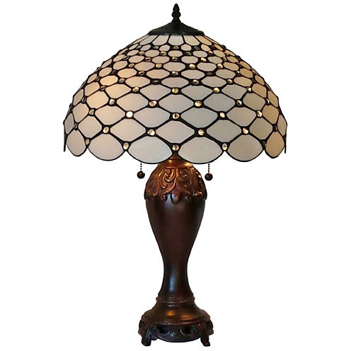 Amora Lighting AM1041TL16 Tiffany Style ChandelleTable Lamp 25 Inches