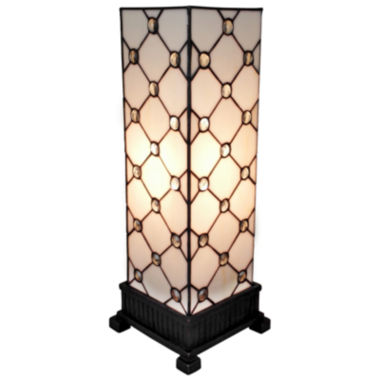 jcpenney.com | Amora Lighting AM105TL06 Tiffany Style Table LampWhite JEWEL 18 In