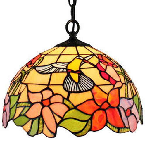 Amora Lighting AM1082HL12 Tiffany Style Hummingbird 1-light Pendant Lamp