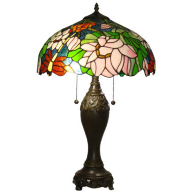 jcpenney.com | Amora Lighting AM1103TL16 Tiffany-style Floral Design Table Lamp 25 Inches Tall