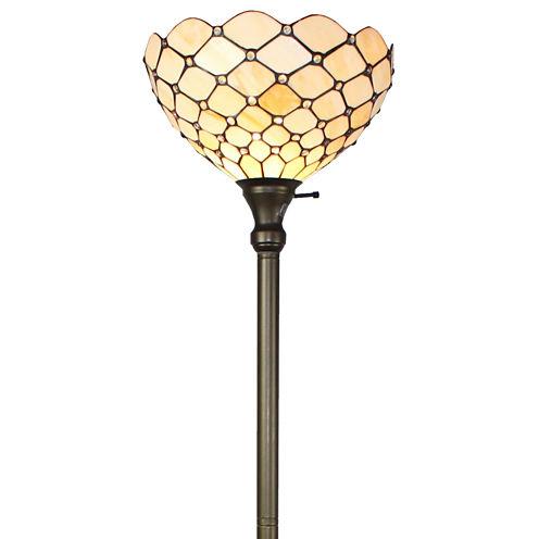 Amora Lighting AM1119FL14 Tiffany Style Floor Torchiere Lamp