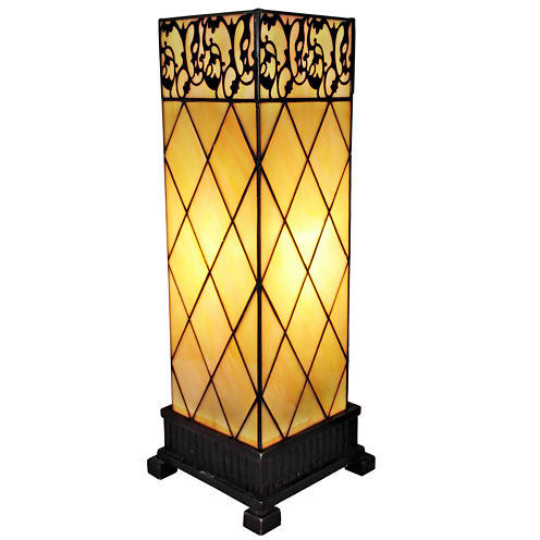 Amora Lighting AM112TL06 Tiffany Style Table Lamp17 In High