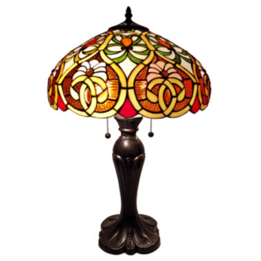 jcpenney.com | Amora Lighting AM114TL16 Tiffany Style Victorian Table Lamp 24 Inches