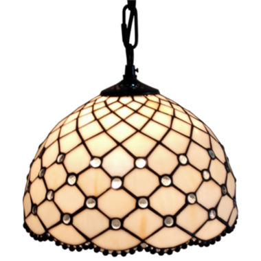 jcpenney.com | Amora Lighting AM119HL12 Jewel Tiffany Style Hanging Lamp 12 In