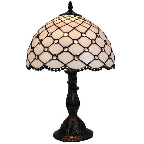Amora Lighting AM120TL12 Tiffany Style Jewel TableLamp 19 Inches Tall