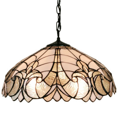 Amora Lighting AM206HL18 Tiffany style floral white hanging l& 18 in wide  sc 1 st  JCPenney & Amora Lighting AM206HL18 Tiffany style floral white hanging lamp 18 ...
