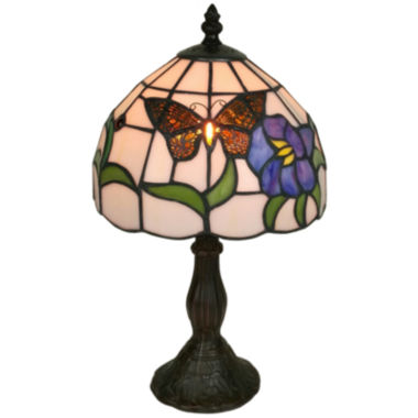 jcpenney.com | Amora Lighting AM210TL08 Tiffany Style Butterfly Finish Table Lamp 20 inches