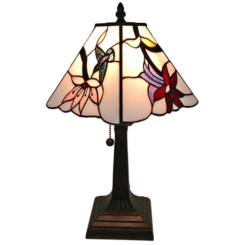 Amora Lighting AM211TL08 Tiffany Style Multicolored Mission Table Lamp 15 inches