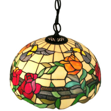 jcpenney.com | Amora Lighting AM227HL16 Tiffany style floral hanging pendant lamp 2 light