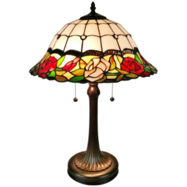jcpenney.com | Amora Lighting AM229TL16 Tiffany Style Floral Finish Table Lamp 23 inches