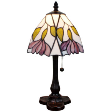 jcpenney.com | Amora Lighting AM016TL08 Tiffany Style 15.5-inch Floral Mini Table Lamp