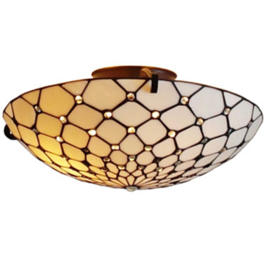 jcpenney.com | Amora Lighting AM030CL17 Tiffany Style Ceiling Fixture Lamp 17 In Wide