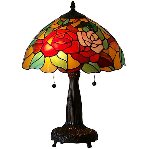 Amora Lighting AM031TL14 Tiffany Style 20-inch Floral Table Lamp