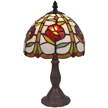 jcpenney.com | Amora Lighting AM039TL08 Tiffany Style 14.5-inch Floral Mini Table Lamp