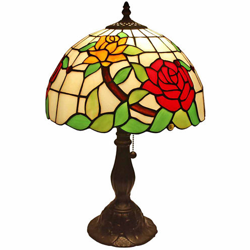 Amora Lighting AM043TL12 Roses Table Lamps 19 In
