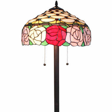jcpenney.com | Amora Lighting AM062FL16 Tiffany Style Roses 61-inch Floor Lamp 62 in