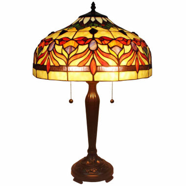 jcpenney.com | Amora Lighting AM067TL16 Tiffany Style Floral Table Lamp 24 In