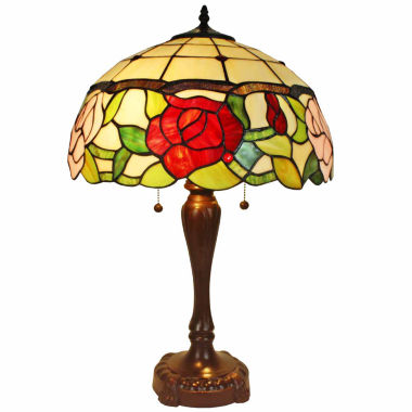 jcpenney.com | Amora Lighting AM069TL16 Tiffany Style Floral Table Lamp 24 In Tall