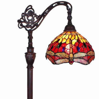 jcpenney.com | Amora Lighting AM079FL10 Tiffany Style Dragonfly Reading Floor Lamp 62 In