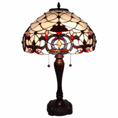 jcpenney.com | Amora Lighting AM087TL16 Tiffany Style  Floral Table Lamp 24 Inch