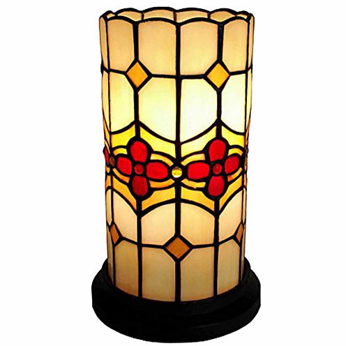 Amora Lighting AM088ACC Tiffany Style Floral MiniTable Lamp 10 Inches Tall