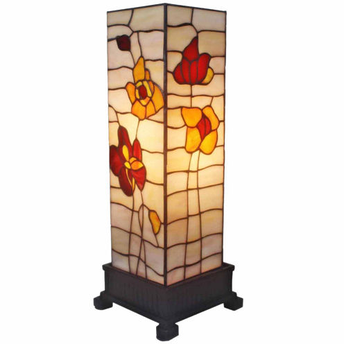 Amora Lighting AM095TL06 Tiffany-style Poppies Table Lamp 18 In