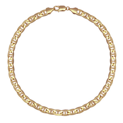 Made In Italy 10k Gold 8 1 2 Inch Hollow Chain Bracelet Jcpenney