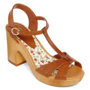 Arizona Brinkley T-Strap Wooden Sandals