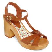 Arizona Brinkley T-Strap Wooden Sandals