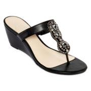 St. John's Bay® Jewel Wedge Sandals