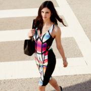 Bisou Bisou® Sleeveless V-Neck Bodycon Dress