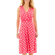 RN Studio by Ronni Nicole Sleeveless Surplice Polka Dot Dress