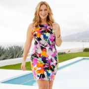 Alyx® Sleeveless Floral Print Twill Dress - Plus