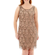Prelude Sleeveless Beaded Dress - Plus