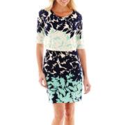 Studio 1® Elbow-Sleeve Popover Dress - Petite