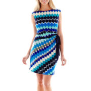 R&K Originals® Sleeveless Side-Tie Knit Dress - Petite