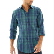 JF J. Ferrar® Long-Sleeve Ombre Plaid Shirt